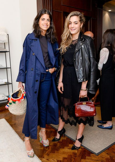 Leandra Medine and Chelsea Leyland. See what other celebrities were on the party scene this April.