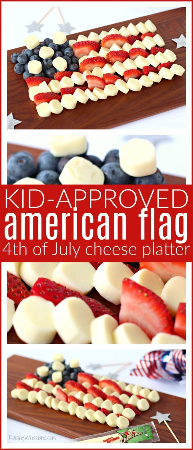 Kid-Approved American Flag Cheese Platter for Fourth of July, perfect appetizer idea for Independence Day! - Raising Whasians via @raisingwhasians (AD)