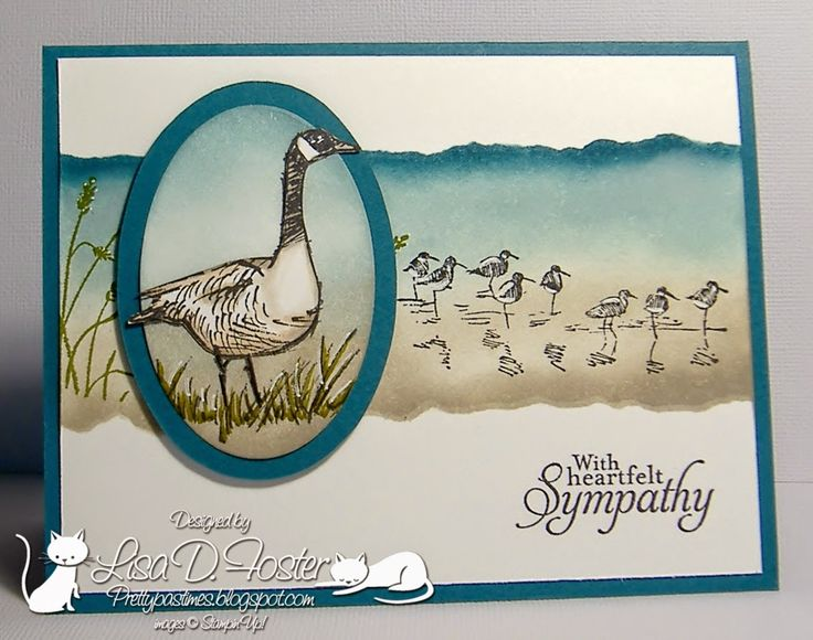 Pretty Pastimes, Wetlands, stampin up cards, masculine