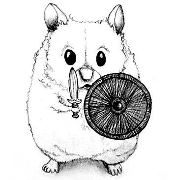 Warrior hamster #illustration