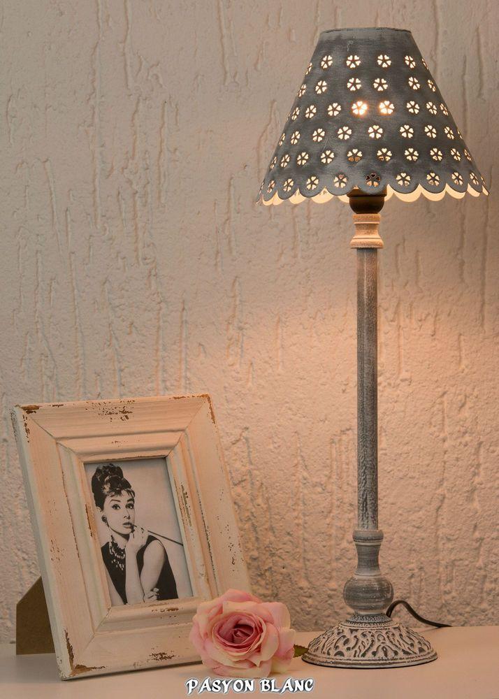 details zu mia retro tisch leuchte 530mm shabby vintage. Black Bedroom Furniture Sets. Home Design Ideas