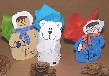 Knutselen 3d: Eskimo's met een ijsbeer!
