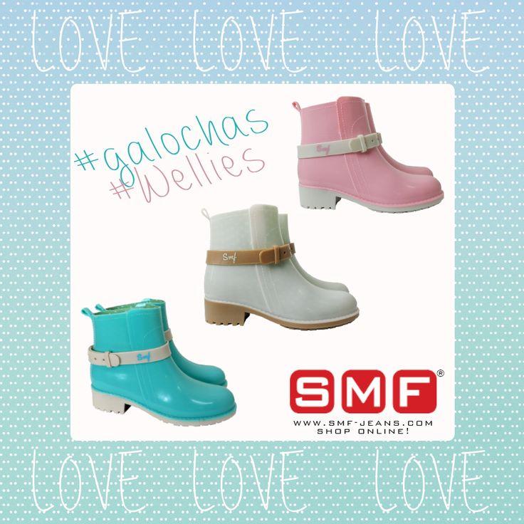 """Hoje, antes de sair de casa escolha as galochas que melhor combinam com o seu """"Rainy Day Outfit""""! http://www.smf-jeans.com/calcado/mulher"""