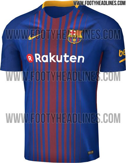 1803df76be5 ... Exclusive Barcelona 17-18 Home Kit Leaked - Footy Headlines. Barcelona  ShirtFc .