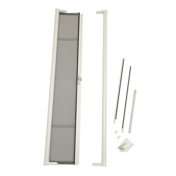 Odl Brisa Premium Retractable Screen For 78 In Sliding Patio Doors White Zabitat Retractable Screen Door Retractable Screen Screen Door