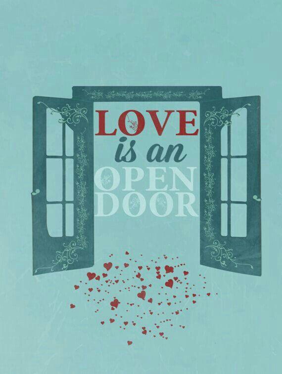 Love realy is an open door