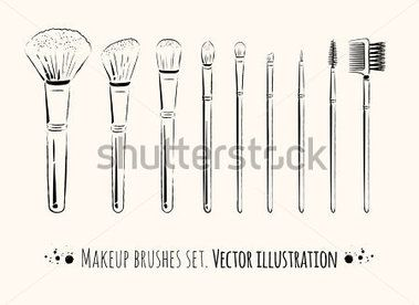 makeup-brushes-kit-hand-drawn-vector-set-isolated_192582338.jpg (379×276)