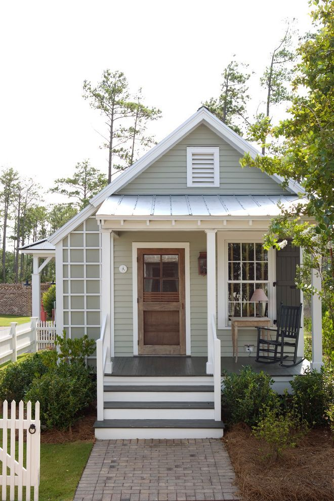 Design Front Porches And House Exterior Design: Mobile Home Porch Kits With Farmhouse Exterior And Cabin Cottage Covered Entry Exposed Rafters