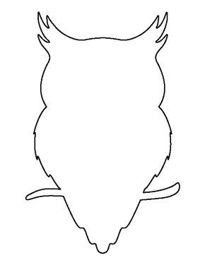 Owl pattern. Use the printable outline for crafts