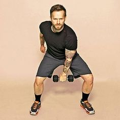 Try Bob Harper's 20 Min Crossfit Workout. You just need a set of 5-10 lb dumb bells. #exercise