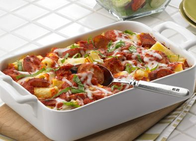 Seriously awesome!!! Having for dinner right now. Fast 'n' Easy Baked Ziti - Johnsonville.com