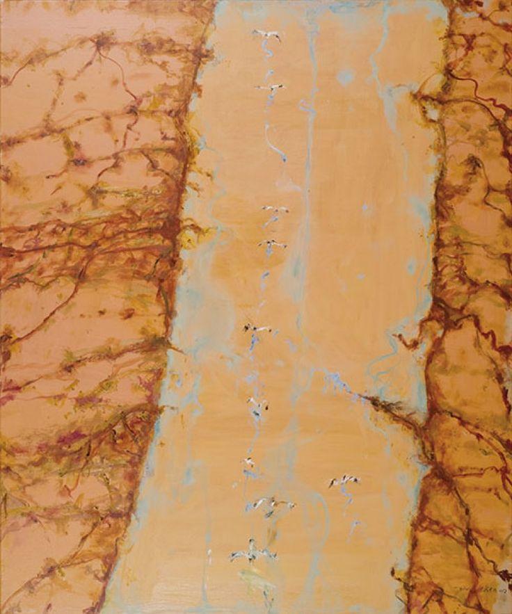 John Olsen, 'Goyder Channel The Flood Arrives', oil on canvas