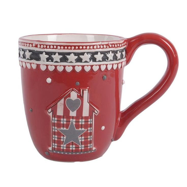 Ceramic Christmas Mug Set 4 Pieces - Porcelain - Ceramic - Christmas - SEASONAL