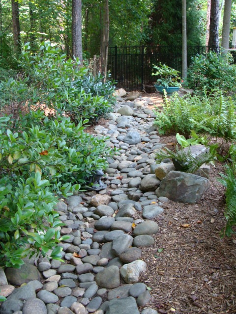 357 best dry creek bed images on pinterest landscaping for Landscaping rock removal