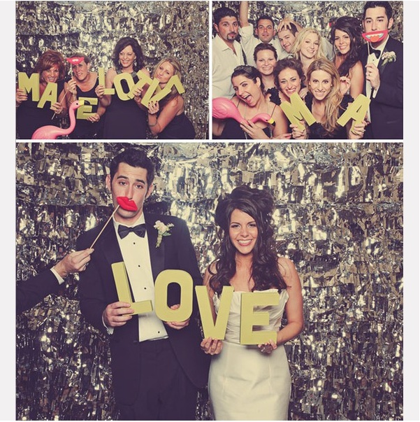 Photo booth for wedding party