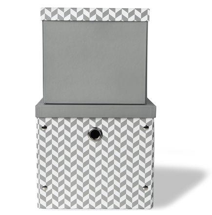 Vinter&Bloom Förvaringsbox 2-pack, Grå