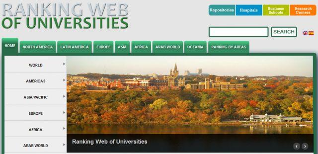 Peringkat Situs Resmi Universitas di Indonesia Versi Webometrics