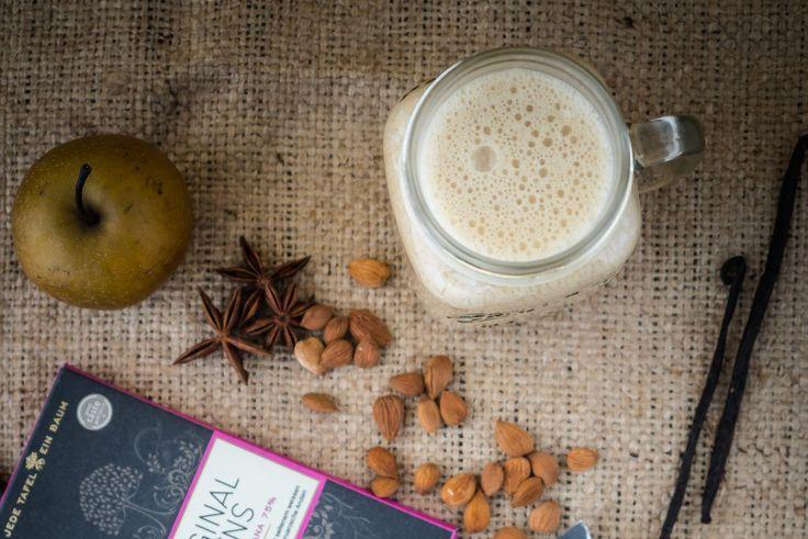 Apfel-Lebkuchen Latte und Bäume retten durch Schokolade essen.