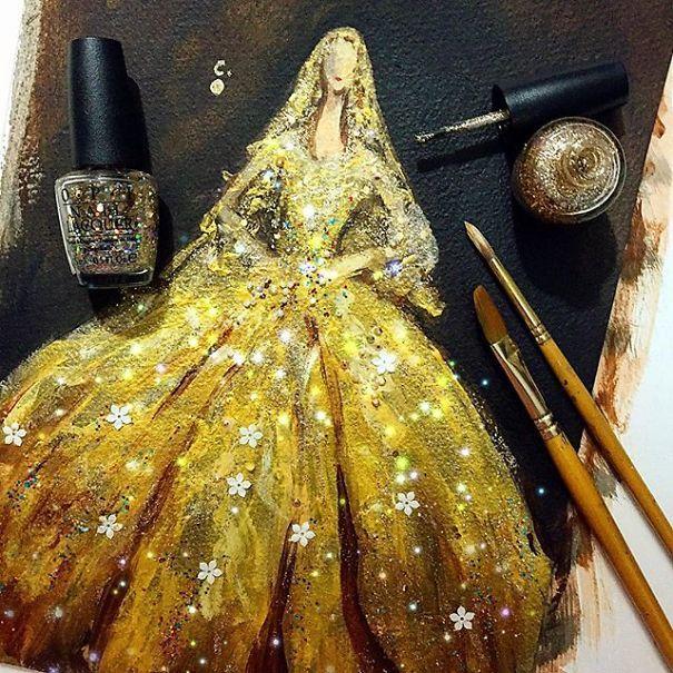 Chan Clayrene é uma artista visual paixonada por seus esmaltes, principalmente pelo efeito brilhante. Depois de explorar as possibilidades em suas próprias unhas, agora ela busca pinturas de aquare…
