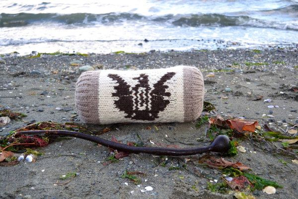 Cowichan Knitted Pillow ~ Coast Salish Comfort