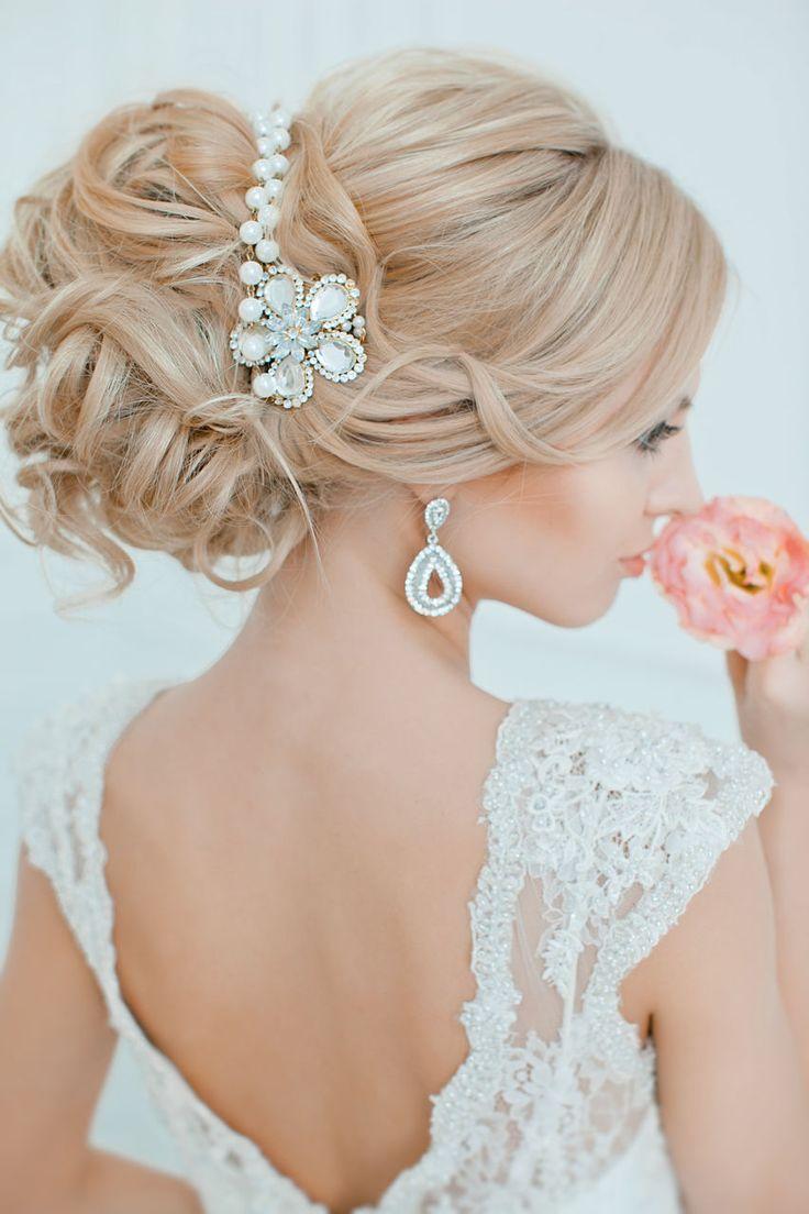 we ❤ this!  moncheribridals.com   #weddinghair #weddingupdo