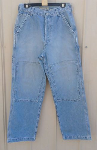 Vintage Abercrombie & Fitch Mens Carpenter Jeans / Pants Size 30R Made in USA