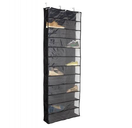 Howards Storage World   Howards Over The Door Shoe Holder 24 Pockets - Black