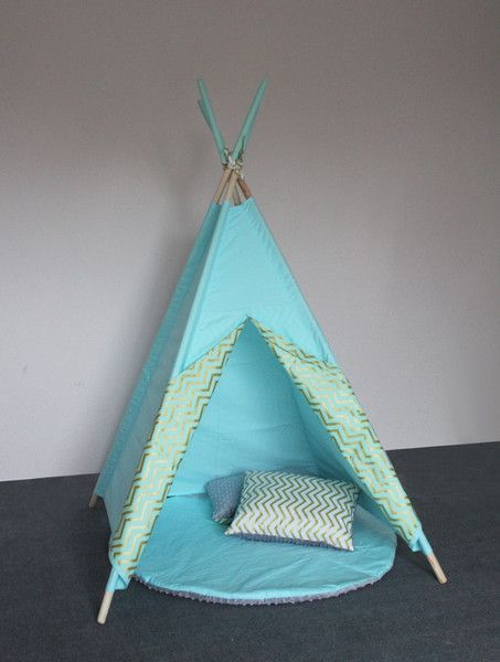 Ikea Flaxa Bed Measurements ~ Anniversaires enfants, Tipi Zigzag Bleu est une création orginale de