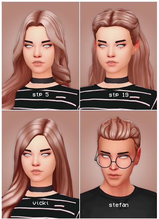 Hair dump at Seven Sims • Sims 4 Updates