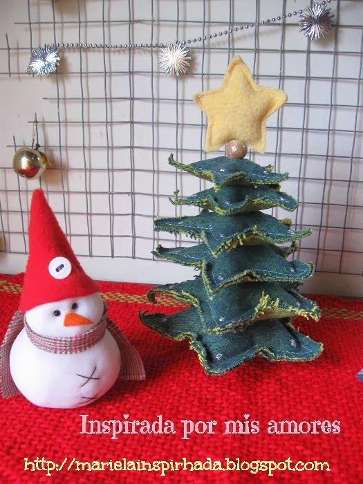 Inspirada Por Mis Amores Reciclando Jeans Arbolito De Navidad Con Estrellas Jean Pinterest Patchwork