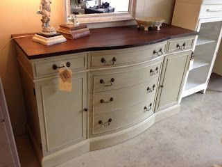 Annie Sloan Versailles Think about this for antique side board