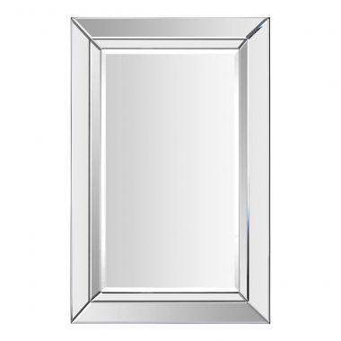 Ce miroir tout en verre dispose d'un design �l�gant avec une certaine profondeur.