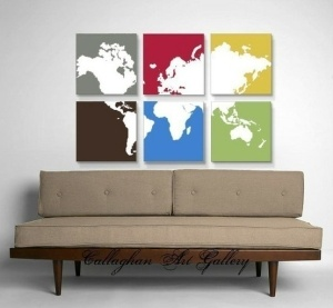 Wall maps of color for nice wall hangings.