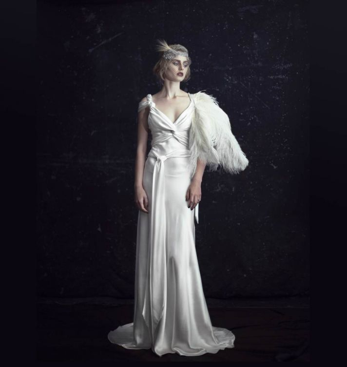 Johanna Johnson brings brides 1920s inspired gorgeous gowns, for a soft and romantic look.