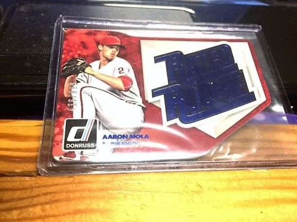 2016 DONRUSS RATED ROOKIE DIE CUT AARON NOLA #D 438/999      mint from pack