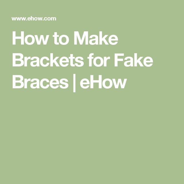 How to Make Brackets for Fake Braces | eHow