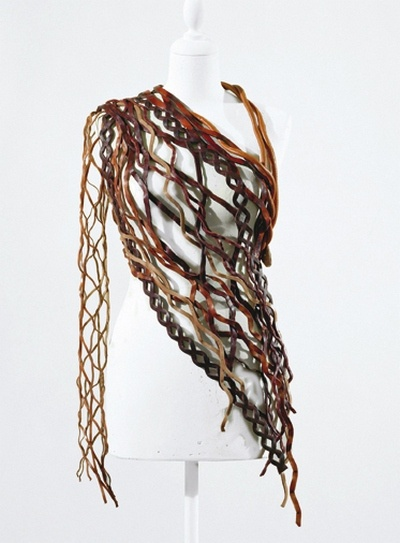 recycled belt scarf...this is amazing!