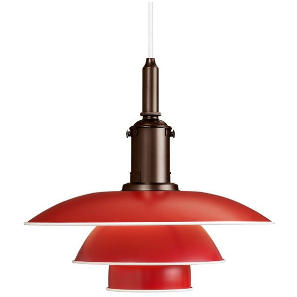 red pendant lighting. louis poulsen ph 3 123 pendant red u20ac738 lighting