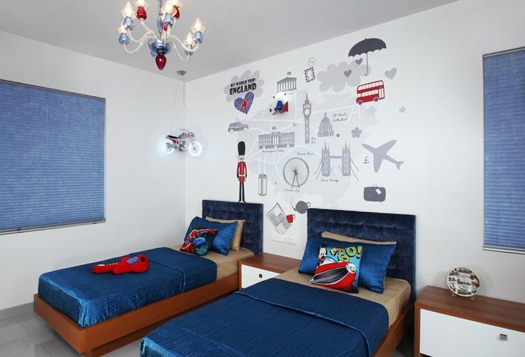 Kids Room Twin Bed - Skyline Ivy League          SAVIO and RUPA Interior Concepts Bangalore | professional apartment interior designers Banglaore | Modern villa Interior Designers | Residential Interior Designs
