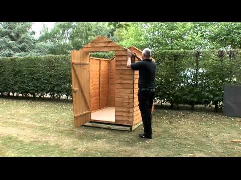 How to build a shed onto a wooden shed base