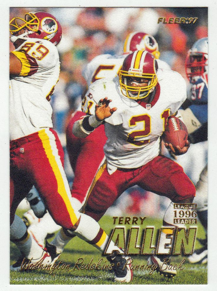 Terry Allen # 220 - 1997 Fleer Football