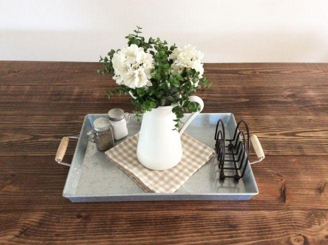 Farmhouse Table Decor Ikea Pitcher On Walmart Galvanized