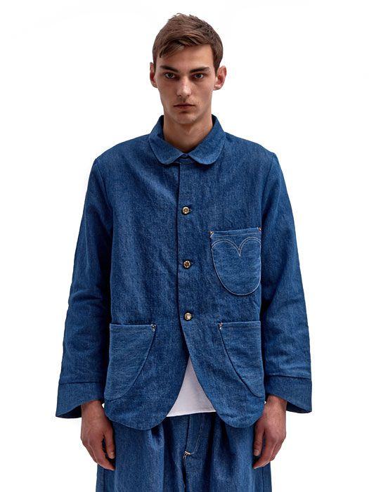 Levi's Red Men's Soft Sack A-lined Denim Jacket