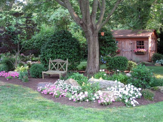 Best 25 front yard tree ideas ideas on pinterest for Landscaping rocks under trees