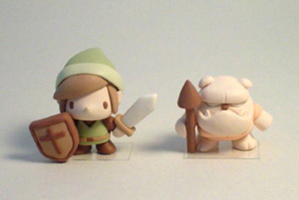 Shuji Suzuki : Zelda clay figures featuring Link and a Moblin!