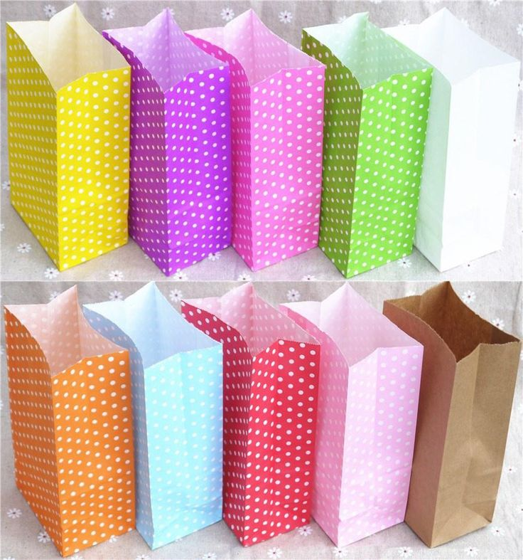 [Visit to Buy] New paper bag Stand up Colorful Polka Dot  Bags 18x9x6cm Favor  Open Top Gift Packing paper Treat gift Bag wholesale #Advertisement