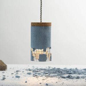 concrete, cork, steel and a solid rock