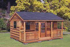 16 x 20 Cabin Shed / Guest House Building Plans #61620 in Home & Garden, Home Improvement, Building & Hardware, Building Plans & Blueprints | eBay