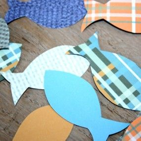 Fishfetti - Gone fishing party decorations - table confetti