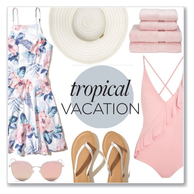 """Tropical Vacation"" by monique-joanne on Polyvore featuring Marysia Swim, Hollister Co. and Stephane + Christian"